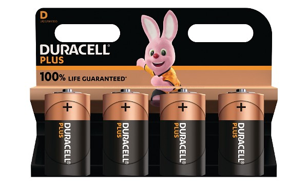 Duracell Plus Power tipo D (paquete de 4)