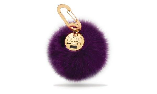 Purple Power Poof Power Bank