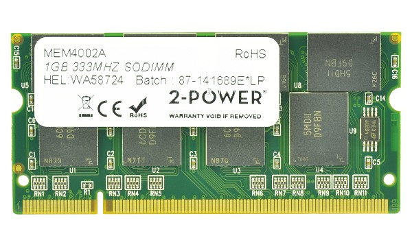 Satellite P20-102 1GB PC2700 333MHz SODIMM