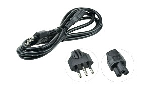 Italian 3 Pin C5 (Cloverleaf) Power Cord